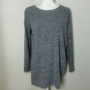 Clara Sun Woo Gray Long Sleeve Tunic Top